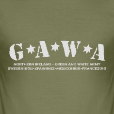 Green & White Army T-Shirts
