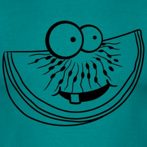 melon piece slice watermelon eating delicious comi T-Shirts - Men's T-Shirt