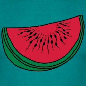 melon piece slice watermelon eating delicious T-Shirts - Men's T-Shirt
