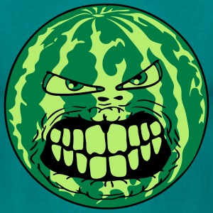 melon vannmelon monster ansikt horror halloween gr T-skjorter - T-skjorte for menn