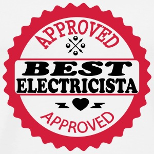 Approved best electricista T-shirts - Herre premium T-shirt