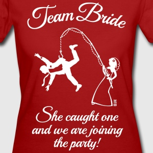 Team Bride Husband Fishing + Saying (Hen Party 1C) - Women's Organic T-shirt