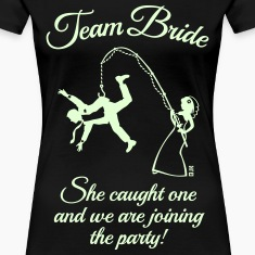 Team Bride Husband Fishing (Hen Party / 1C) T-Shirts