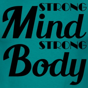Strong mind, strong body T-skjorter - T-skjorte for menn