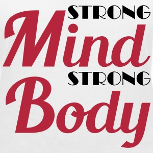 Strong mind, strong body T-skjorter - T-skjorte med V-utsnitt for kvinner