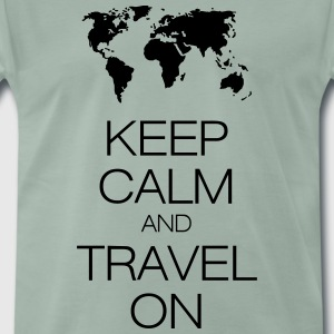 keep calm and travel on T-shirts - Herre premium T-shirt