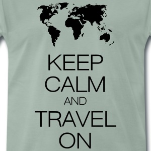 keep calm and travel on T-skjorter - Premium T-skjorte for menn