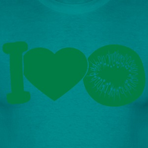 i love darling eat kiwi fruit tasty T-Shirts - Men's T-Shirt