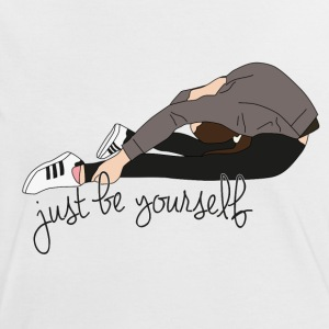 just be yourself - Frauen Kontrast-T-Shirt