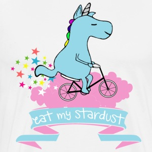 Hvit Eat my stardust unicorn T-skjorter - Premium T-skjorte for menn