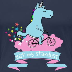 Navy Eat my stardust unicorn T-shirts - Vrouwen Premium T-shirt