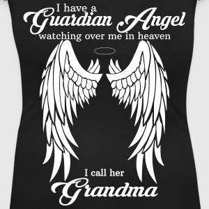 My Grandma Is My Guardian Angel she Watches Over  T-Shirts - Women's Scoop Neck T-Shirt