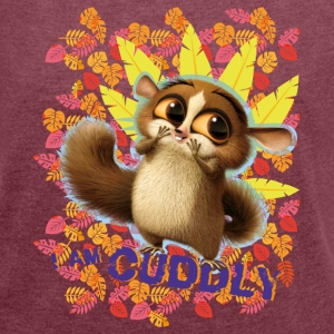 DreamWorks King Julien 'I am cuddly' Women T-Shirt - Women's T-shirt with rolled up sleeves