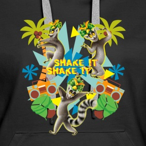 DreamWorks King Julien 'Shake it' Frauen Kapuzenpu - Frauen Premium Hoodie