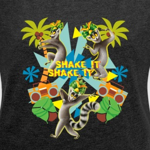 DreamWorks King Julien 'Shake it' Women T-Shirt - Women's T-shirt with rolled up sleeves