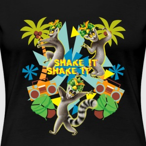 DreamWorks King Julien 'Shake it' Frauen T-Shirt - Frauen Premium T-Shirt
