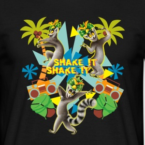 DreamWorks King Julien 'Shake it' Männer T-Shirt - Männer T-Shirt