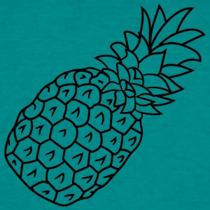ananas vakantie Eat Well T-shirts - Mannen T-shirt
