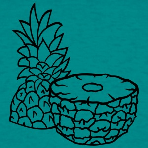 pineapple half cut half tasty food 2 halves T-Shirts - Men's T-Shirt