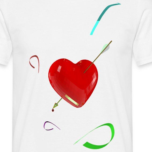 Camiseta clasica hombre heart pierced