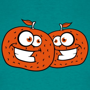 2 orangen comic cartoon gesicht grinsen lustig tea T-Shirts - Männer T-Shirt