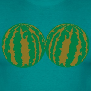2 melons watermelon bosom breasts balls boobs funn T-Shirts - Men's T-Shirt