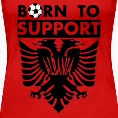 Support Albania Frauen Premium T-Shirt