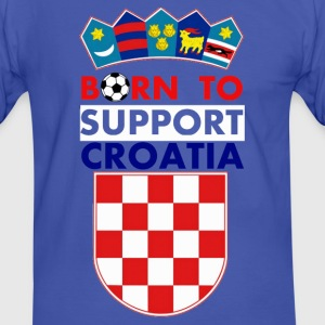 Support Croatia - Männer Kontrast-T-Shirt