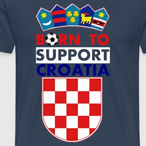 Support Croatia  - Männer Premium T-Shirt