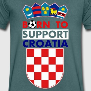 Support Croatia  - Men's V-Neck T-Shirt