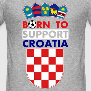 Support Croatia T-shirts - slim fit T-shirt