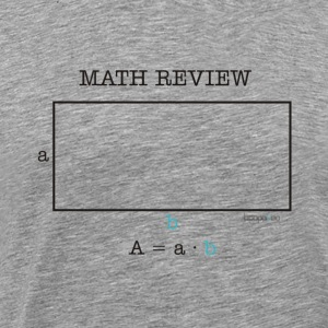 Math review-rectangle - Men's Premium T-Shirt