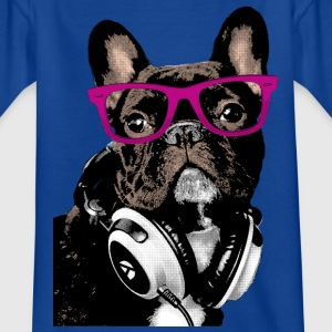 AD Hipster Frenchie Skjorter - T-skjorte for barn