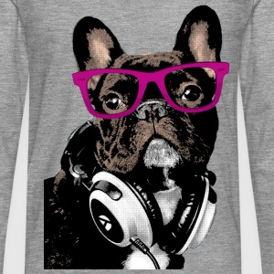 AD Hipster Frenchie Long sleeve shirts - Men's Premium Longsleeve Shirt