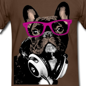 AD Hipster Frenchie Tee shirts - T-shirt contraste Homme