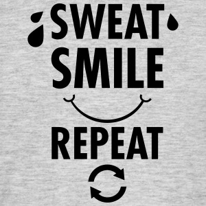 Sweat, Smile, Repeat T-shirts - Mannen T-shirt