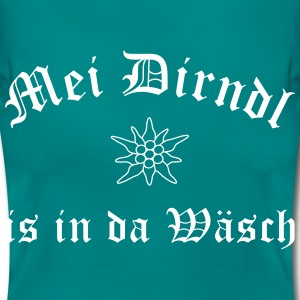 Mei Dirndl is in da Wäsch - Frauen T-Shirt