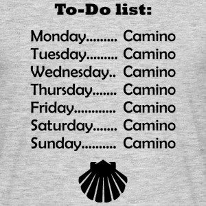 To-do list: Camino T-shirts - Herre-T-shirt