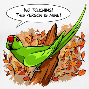 Talking green ringneck parrot - Women's Premium T-Shirt