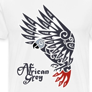 African grey parrot tribal tattoo - Men's Premium T-Shirt