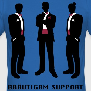 Bräutigam-support T-Shirts - Männer Slim Fit T-Shirt