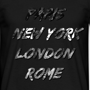 T-shirt Homme Paris-NYC-London-Rome - T-shirt Homme