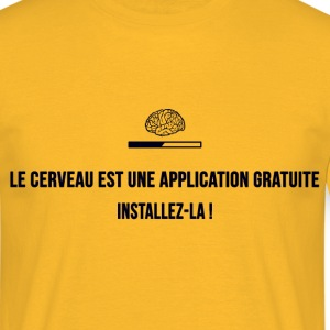 Application : cerveau - T-shirt Homme