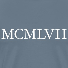 MCMLXVII 1957 Roman birthday year T-Shirts