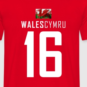 Wales Euro 2016 T Shirt RED - Men's T-Shirt