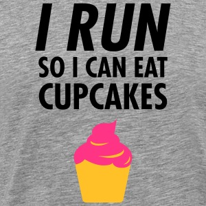 I Run - So I Can Eat Cupcakes T-shirts - Mannen Premium T-shirt