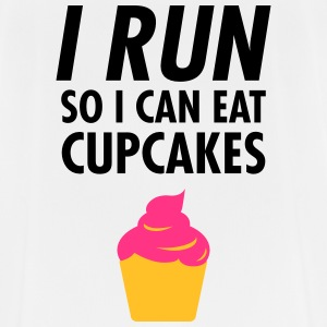 I Run - So I Can Eat Cupcakes T-shirts - mannen T-shirt ademend