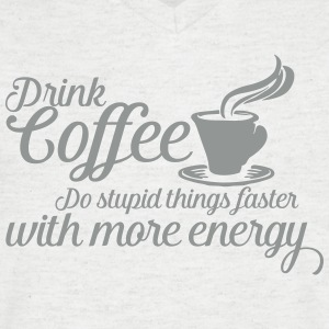 Drink coffee T-shirts - Mannen T-shirt met V-hals