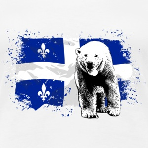 Polar Bear - Quebec Flag  T-Shirts - Frauen Premium T-Shirt