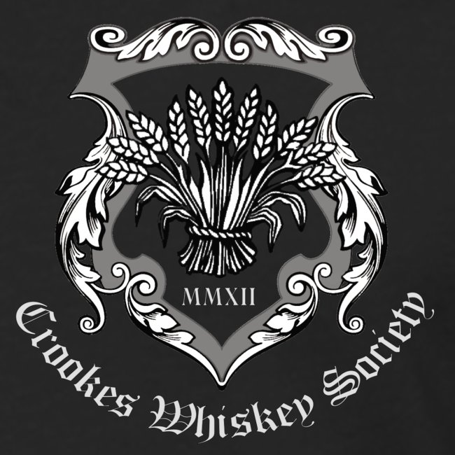 Crookes Whiskey Society long-sleeved t-shirt (black, small crest)